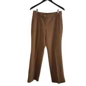 ST. JOHN COUTURE Pleated Brown Straight Pants